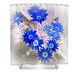 Wild Blue Shower Curtain