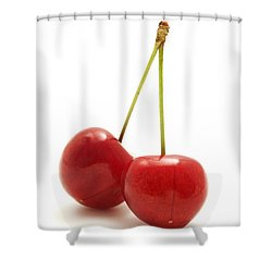 Wild Cherry Shower Curtain