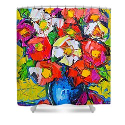 Wild Colorful Flowers Shower Curtain by Ana Maria Edulescu