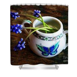 Wild Flowers In Sugar Bowl Shower Curtain