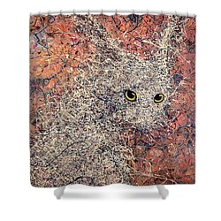 Wild Hare Shower Curtain by James W Johnson