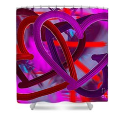 Wild Hearts Shower Curtain