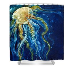 Wild Jellyfish Reflection Shower Curtain