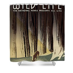 Wild Life Poster, C1940 Shower Curtain by Granger