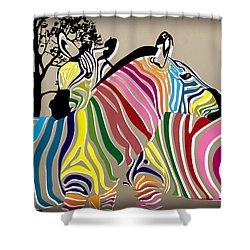 Wild Love 2 Shower Curtain by Mark Ashkenazi