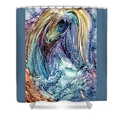 Shower Curtain featuring the painting Wild Mother Nature by Mikhail Savchenko