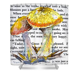 Wild Mushrooms Shower Curtain by Beverley Harper Tinsley