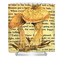 Wild Mushrooms Warm And Subtle Shower Curtain by Beverley Harper Tinsley