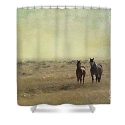Wild Pair Shower Curtain by Juli Scalzi