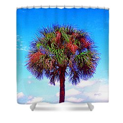 Wild Palm 1 Shower Curtain