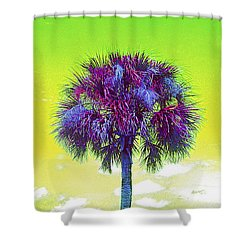 Wild Palm 3 Shower Curtain