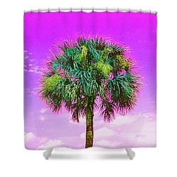 Wild Palm 4 Shower Curtain