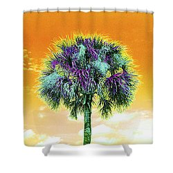 Wild Palm 5 Shower Curtain