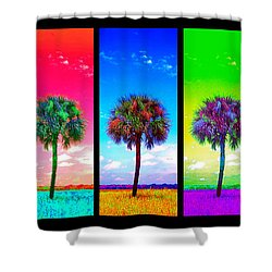 Wild Palms X5 Shower Curtain