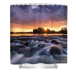 Wild River II Shower Curtain by Davorin Mance