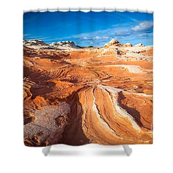 Wild Sandstone Landscape Shower Curtain by Inge Johnsson