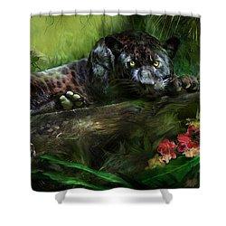 Wildeyes - Panther Shower Curtain