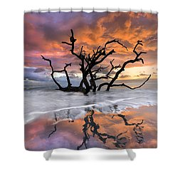 Wildfire Shower Curtain by Debra and Dave Vanderlaan