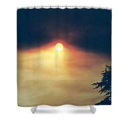 Shower Curtain featuring the photograph Wildfire Smoky Sky by Kerri Mortenson