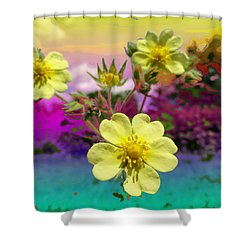 Wildflower Abstract Shower Curtain