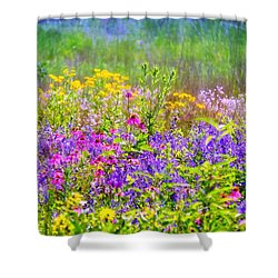 Wildflower Beauty  Shower Curtain