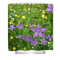 Shower Curtain featuring the photograph Wildflower Garden by Martin Howard