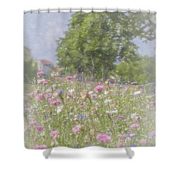 Wildflower Impressionism Shower Curtain