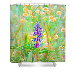 Wildflower Meadow - Spring In Central California Shower Curtain