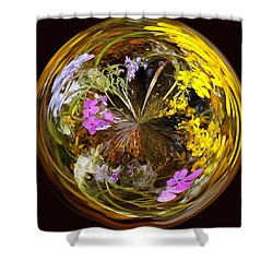 Shower Curtain featuring the photograph Wildflower Paperweight by Gary Holmes
