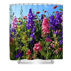 Wildflowers #14 Shower Curtain by Robert ONeil