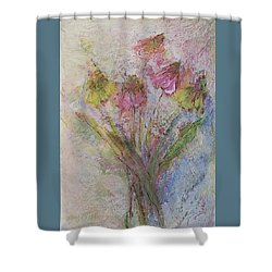 Shower Curtain featuring the painting Wildflowers 2 by Mary Wolf