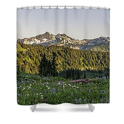 Wildflowers At Mt Rainier Shower Curtain by Sharon Seaward
