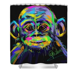 Wildlife Baby Chimp Shower Curtain