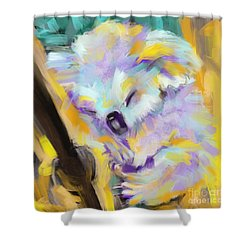 Wildlife Cuddle Koala Shower Curtain