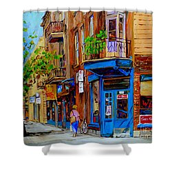 Wilensky's Diner And Snack Bar Shower Curtain by Carole Spandau