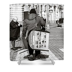 Will Cell Phones Cameras Hurt Photography? - Featured 3 Shower Curtain by Alexander Senin