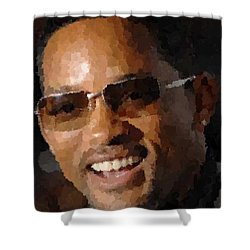 Will Smith Portrait Shower Curtain