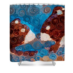 Shower Curtain featuring the painting Will You Be My Beaver by Omaste Witkowski