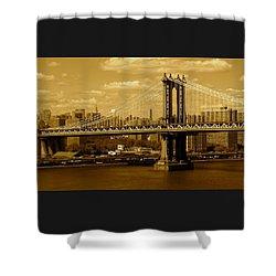 Williamsburg Bridge New York City Shower Curtain