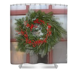 Williamsburg Wreath Shower Curtain