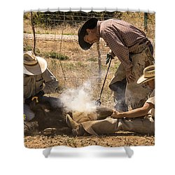 Williamson Valley Roundup 26 Shower Curtain by Priscilla Burgers