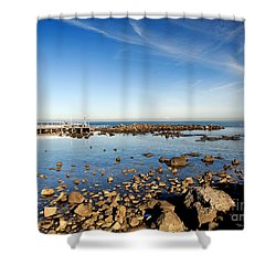 Williamstown Beach Shower Curtain by Yew Kwang