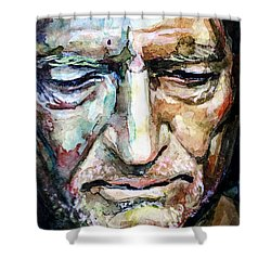 Willie Nelson  Portrait Shower Curtain