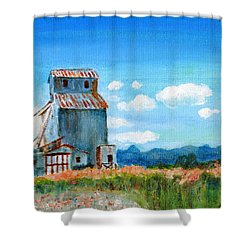 Willow Creek Grain Elevator II Shower Curtain by C Sitton