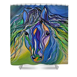 Willow The War Horse Shower Curtain