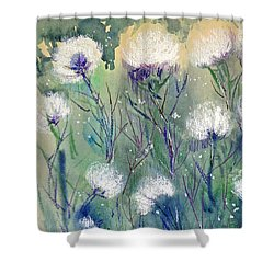 Willowy Whites Shower Curtain
