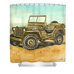 Willys Jeep Shower Curtain