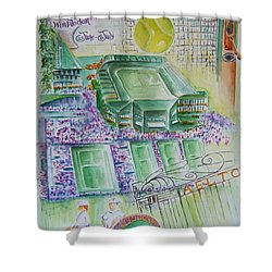 Wimbledon 2014 Shower Curtain by Elaine Duras