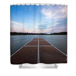 Wimbledon Park Sunset Shower Curtain by Matt Malloy