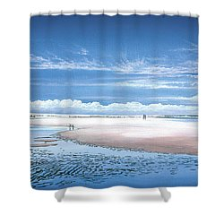 Winchelsea Beach Shower Curtain by Steve Crisp